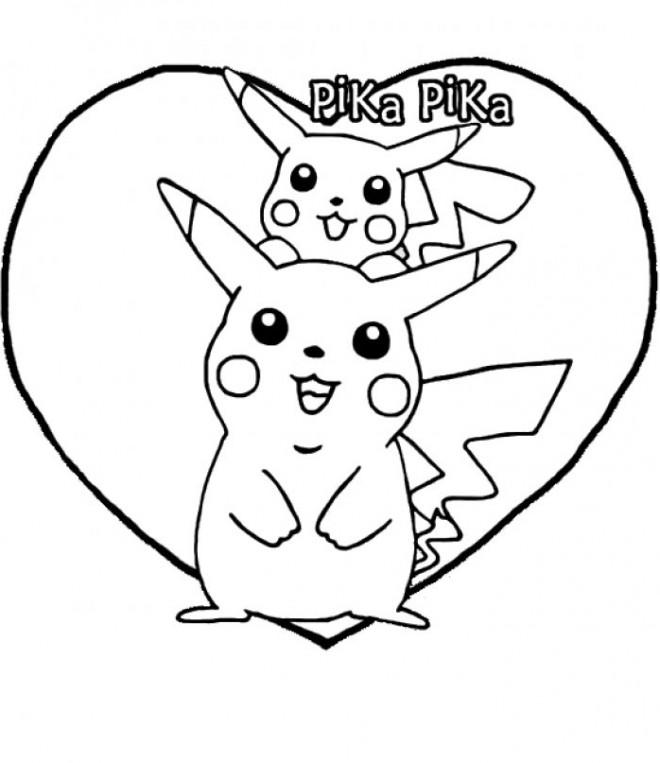 Coloriage et dessins gratuits Pokémon Pikachu mignon à imprimer