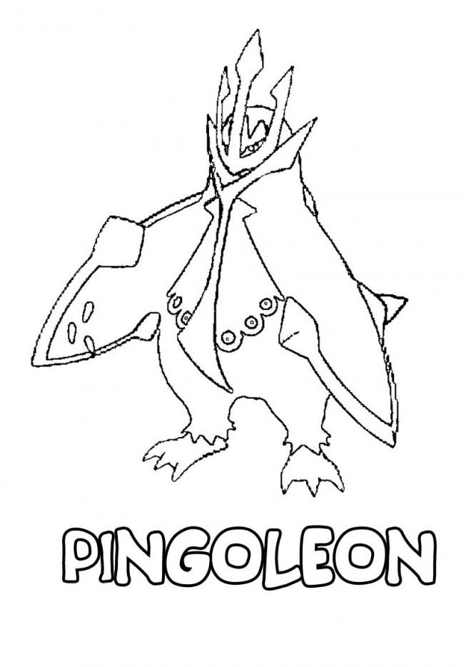 Coloriage Pokemon Pingoleon Dessin Gratuit A Imprimer