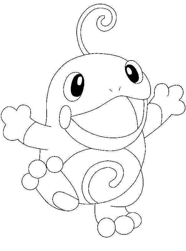 Coloriage et dessins gratuits Pokémon Politoed dessin à imprimer