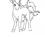 Coloriage Pokemon Ponyta dessin