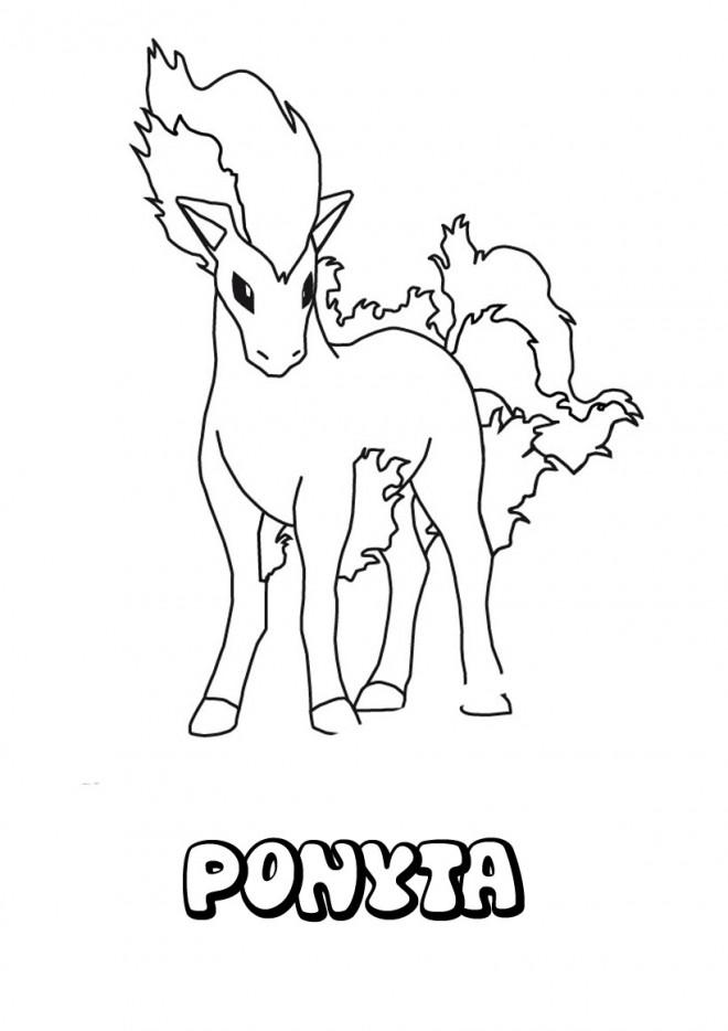 Coloriage et dessins gratuits Pokemon Ponyta dessin à imprimer