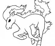 Coloriage et dessins gratuit Pokémon Rapidash à imprimer