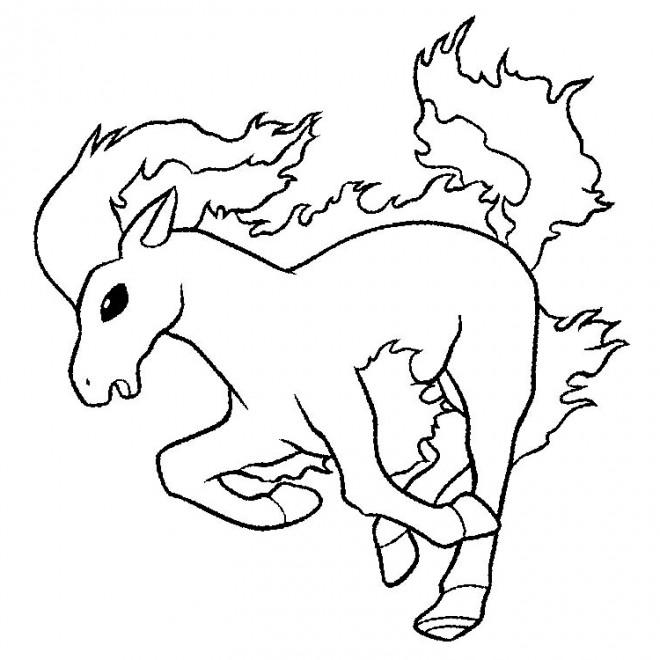Coloriage et dessins gratuits Pokémon Rapidash à imprimer