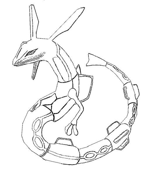 Coloriage pok mon rayquaza dessin gratuit imprimer - Dessin de rayquaza ...