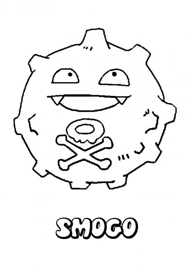 Coloriage et dessins gratuits Pokémon Rocket souriant à imprimer