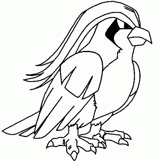 Coloriage et dessins gratuits Pokémon Roucarnage à imprimer
