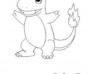 Coloriage et dessins gratuit Pokémon Salameche à imprimer