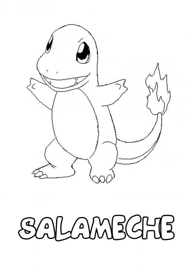 Coloriage Pokemon Salameche Dessin Gratuit A Imprimer