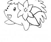 Coloriage et dessins gratuit Pokémon Shaymin à imprimer