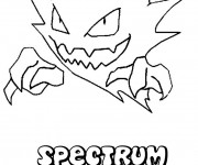 Coloriage Pokémon Spectrum facile