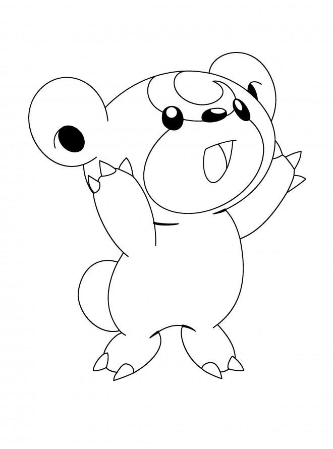 Coloriage et dessins gratuits Pokémon trop mignon à imprimer