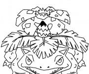 Coloriage et dessins gratuit Pokémon Venusaur facile à imprimer