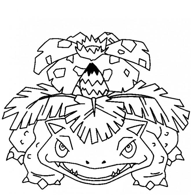 Coloriage et dessins gratuits Pokémon Venusaur facile à imprimer