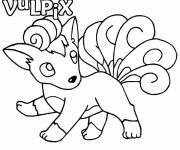 Coloriage Pokemon Vulpix
