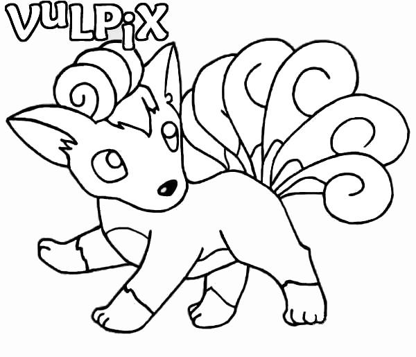 Coloriage et dessins gratuits Pokemon Vulpix à imprimer