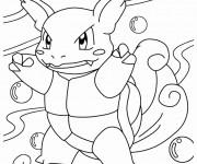 Coloriage Wartortle Pokémon étape par étape