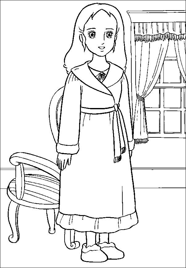Coloriage et dessins gratuits Princesse Sarah 15 à imprimer
