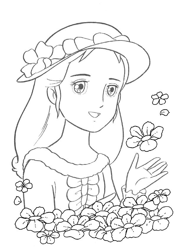 Coloriage Princesse Sarah gratuit à imprimer