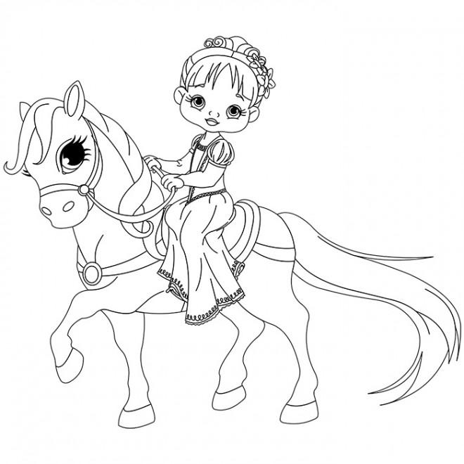 Coloriage et dessins gratuits Princesse Sarah 25 à imprimer