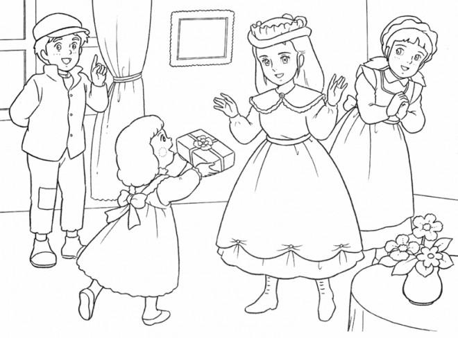 Coloriage et dessins gratuits Princesse Sarah 3 à imprimer