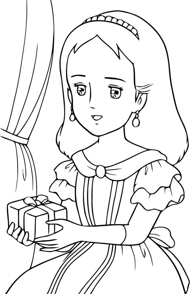 Coloriage et dessins gratuits Princesse Sarah 4 à imprimer