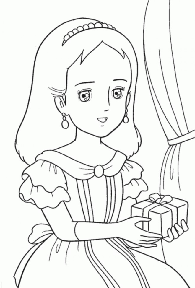 Coloriage Princesse Sarah 5 Dessin Gratuit A Imprimer