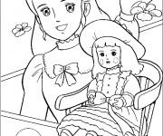 Coloriage dessin  Princesse Sarah 6