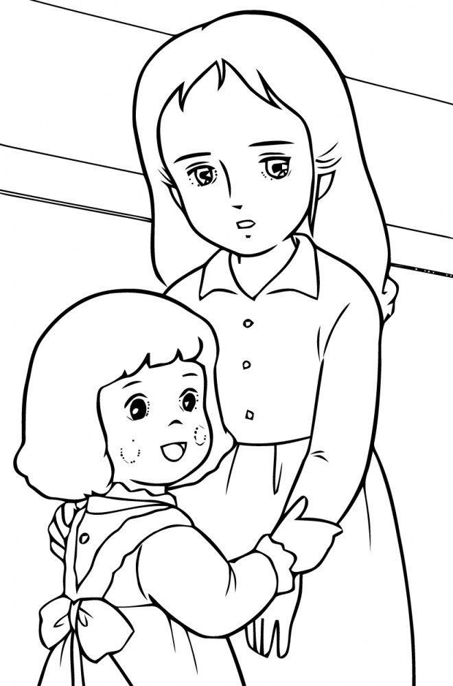 Coloriage et dessins gratuits Princesse Sarah 8 à imprimer
