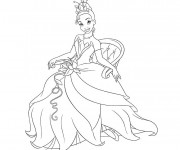 Coloriage Princesse sur chaise