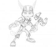 Coloriage Ratchet et Clank 10