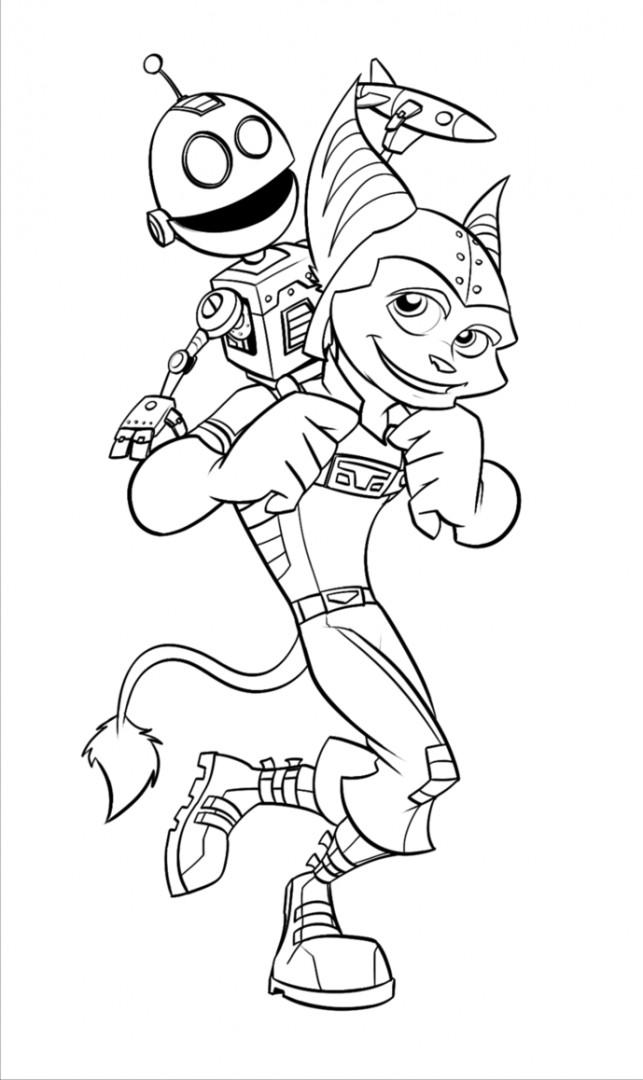 Coloriage et dessins gratuits Ratchet et Clank 12 à imprimer