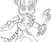 Coloriage Ratchet et Clank 13