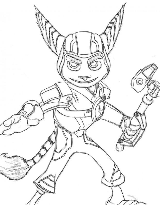 Coloriage et dessins gratuits Ratchet et Clank 13 à imprimer