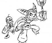 Coloriage Ratchet et Clank 14