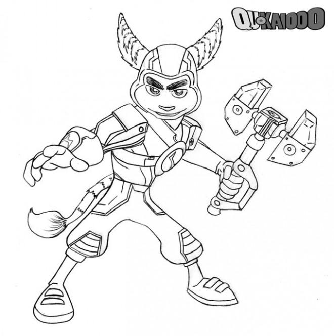 Coloriage et dessins gratuits Ratchet et Clank 16 à imprimer