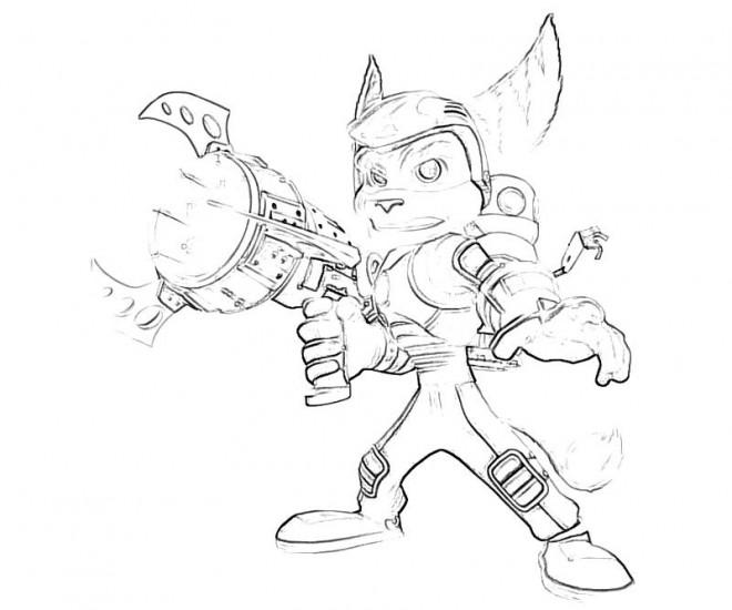 Coloriage et dessins gratuits Ratchet et Clank 19 à imprimer