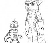 Coloriage Ratchet et Clank 2
