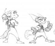 Coloriage Ratchet et Clank 23