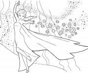 Coloriage et dessins gratuit Elsa et La Neige à imprimer