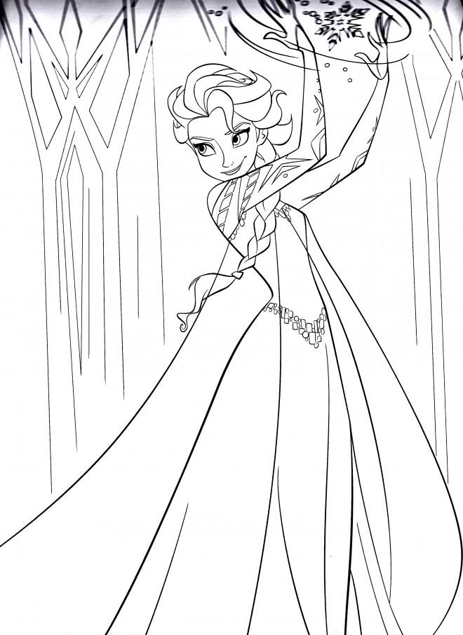 Coloriage elsa reine des neiges dessin gratuit imprimer - Coloriage en ligne la reine des neiges ...