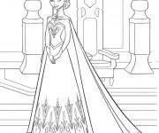 Coloriage et dessins gratuit Elsa Reine des Neiges à télécharger à imprimer