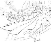 Coloriage et dessins gratuit Elsa Reine des Neiges en ligne à imprimer