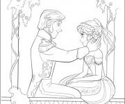 Coloriage Image à colorier Reine des Neiges