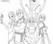Coloriage La famille de Elsa Reine des Neiges