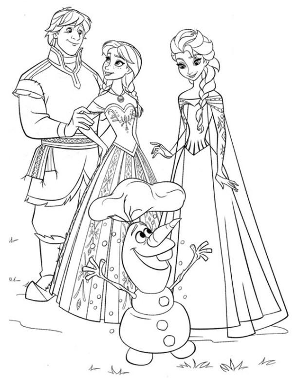Coloriage et dessins gratuits Olaf et sa famille à imprimer