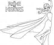 Coloriage Reine des Neiges à colorier en ligne