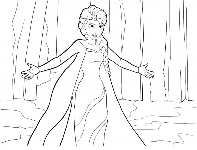 Coloriage et dessins gratuits Reine des Neiges à découper gratuitement à imprimer