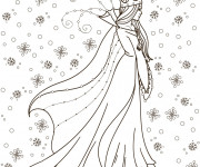 Coloriage Reine des Neiges à télécharger gratuitement