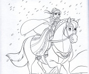 Coloriage et dessins gratuit Reine des Neiges Anna à imprimer