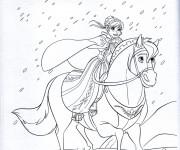Coloriage Reine des Neiges Anna